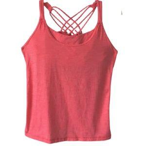 LULULEMON Women's Tank Top  Pink Strappy Size 6